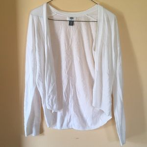 Old Navy White Cardigan Sweater Size XL